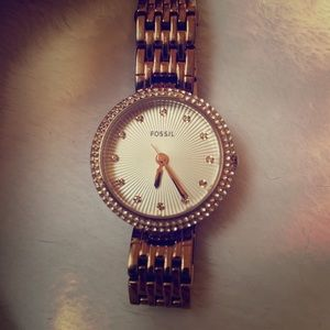 Rose Gold Small Face Fossil Watch